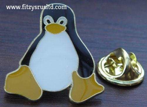 Penguin Aquatic Bird Metal Lapel Pin Badge Brooch
